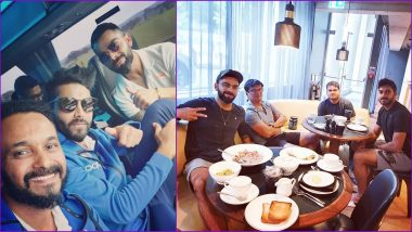 Virat Kohli Chills With Vijay Shankar, Ravindra Jadeja and Kedar Jadhav Ahead of India vs West Indies ICC Cricket World Cup 2019 Match (View Pics)